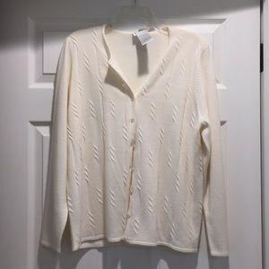 NWT cream cardigan
